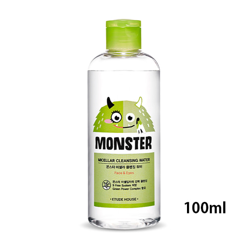 [Etude House] Monster Micellar Cleansing Water (Sample) 100ml (Weight : 143g)-MYKOCO WS