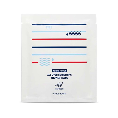 [Etude House] Active Proof All Over Refreshing Shower Tissue (Sample) 21ml (Weight : 52g)-MYKOCO WS