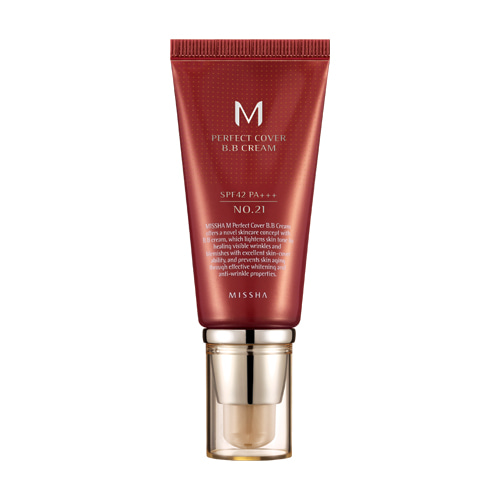 [Missha] Perfect Cover BB Cream SPF42/PA+++ #21 Light Beige 50ml