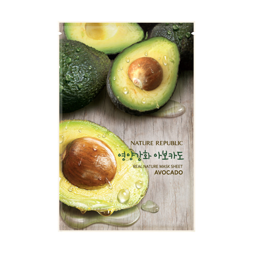 [Nature Republic] Real Nature Mask Sheet #Avocado 23ml