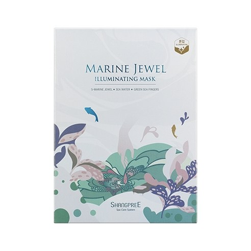 [Shangpree] Marine Jewel Illuminating Mask 30ml*5 (Weight : 200g)-MYKOCO WS