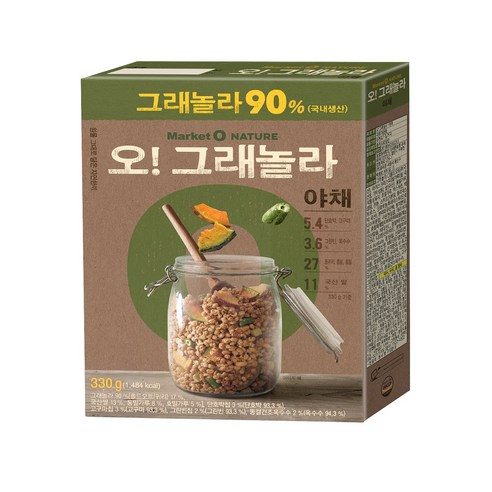[Orion] Market O Nature O Granola Cereal Vegetable 330g (Weight : 500g)-MYKOCO WS