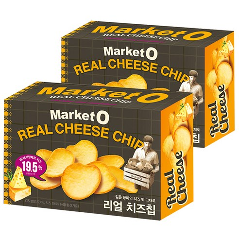 [Orion] Market O Real Cheese Chip 60g *2 (Weight : 190g)-MYKOCO WS