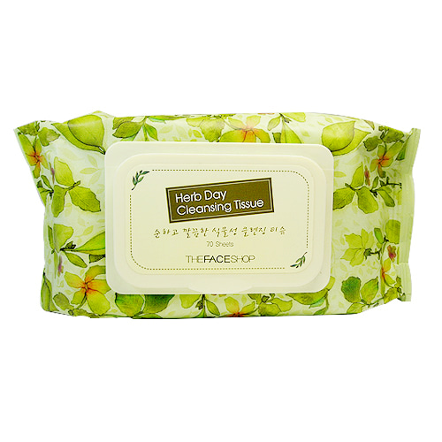 [The Face Shop] Herb Day Cleansing Tissue 70p