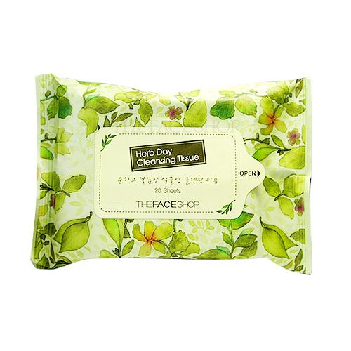 [The Face Shop] Herb Day Cleansing Tissue 20p