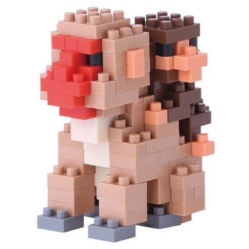 [nano block] Monkey 180pcs (Weight : 420g)-MYKOCO WS
