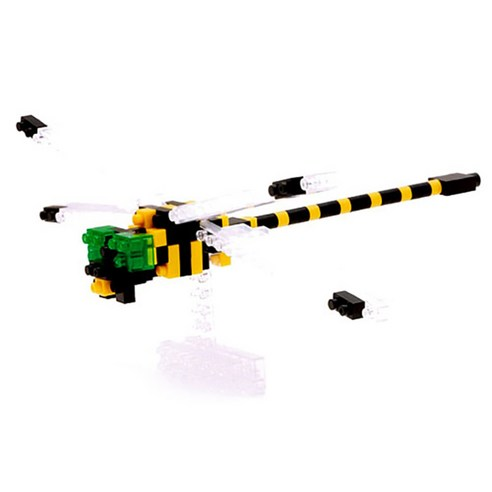 [nano block] Golden Ringed Dragonfly 140pcs (Weight : 220g)-MYKOCO WS