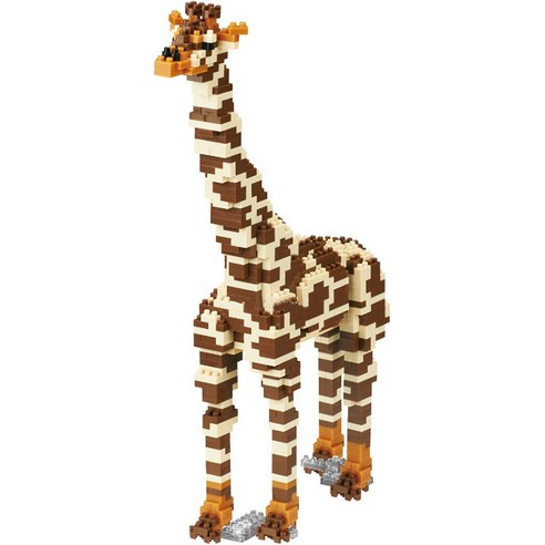 [nano block] Giraffe 740pcs (Weight : 520g)-MYKOCO WS